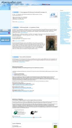 Vorschau der mobilen Webseite www.alpenquellen.com, Alpenquellen.com