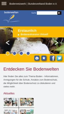 Vorschau der mobilen Webseite www.bodenwelten.de, Bodenwelten.de