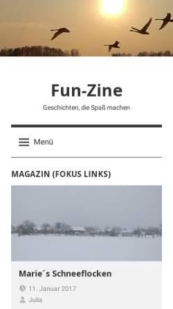 Vorschau der mobilen Webseite www.fun-zine.de, Fun-Zine
