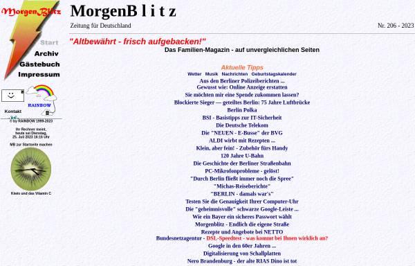 Vorschau von www.morgenblitz.de, MorgenBlitz