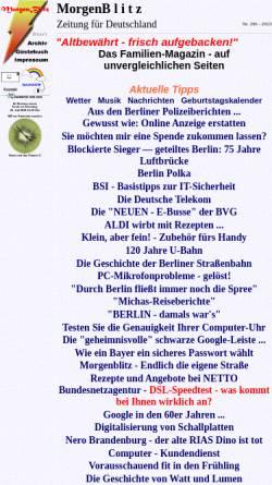 Vorschau der mobilen Webseite www.morgenblitz.de, MorgenBlitz