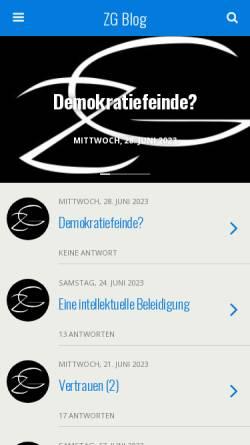Vorschau der mobilen Webseite www.zeitgeistlos.de, Zeitgeistlos