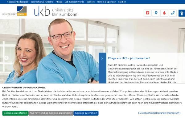 Vorschau von www.ukb.uni-bonn.de, Universitätsklinikum Bonn (UKB)