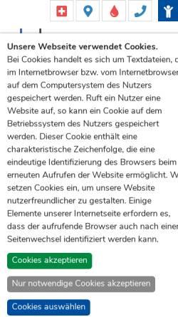 Vorschau der mobilen Webseite www.ukb.uni-bonn.de, Universitätsklinikum Bonn (UKB)