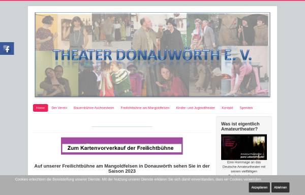 Vorschau von www.theater-donauwoerth.de, Donauwörth, Theater Donauwörth e.V.
