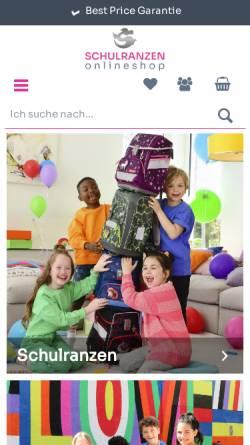 Vorschau der mobilen Webseite www.schulranzen-onlineshop.de, Southbag GmbH u. Co. Handels KG