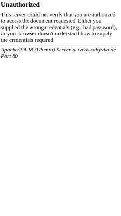 Vorschau der mobilen Webseite www.babyvita.de, Babyvita, Christian Hofmann