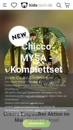 Vorschau der mobilen Webseite www.kidsroom.de, Kidsroom.de