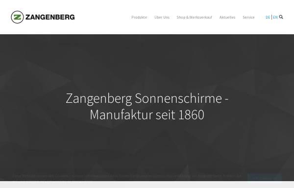 Vorschau von www.zangenberg.de, Heinrich Zangeberg GmbH & Co.