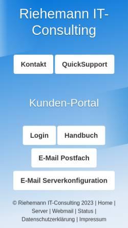 Vorschau der mobilen Webseite www.larberg-riehemann.de, Larberg Riehemann IT-Consulting GbR