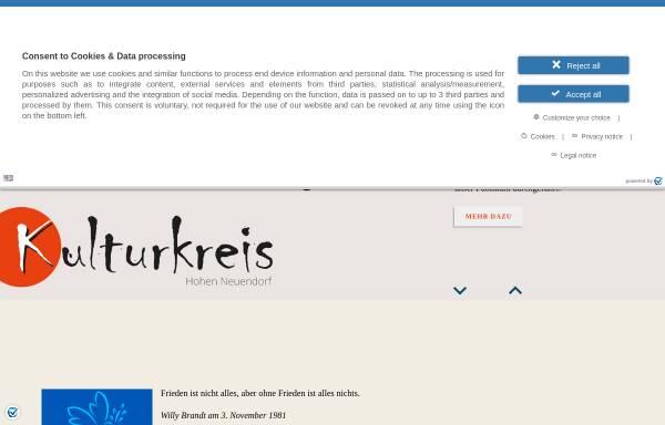 Vorschau von kulturkreis-hn.de, Kulturkreis der Stadt Hohen Neuendorf e.V.