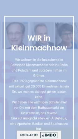 Vorschau der mobilen Webseite fdp-kleinmachnow.de, FDP Kleinmachnow