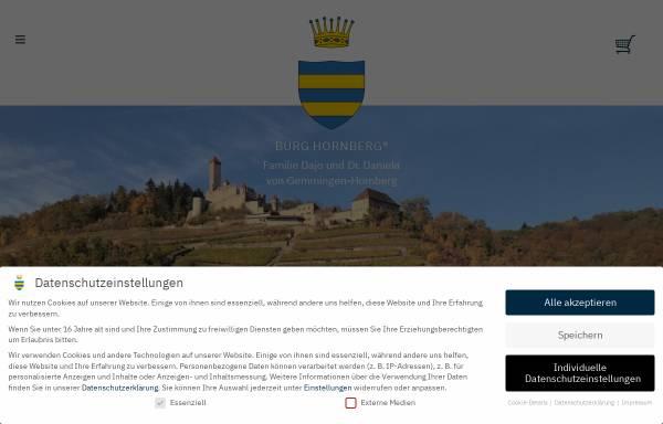 Vorschau von www.burg-hornberg.de, Güterverwaltung Burg-Hornberg