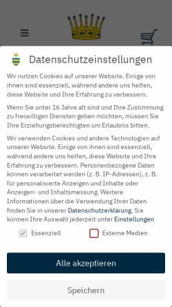 Vorschau der mobilen Webseite www.burg-hornberg.de, Güterverwaltung Burg-Hornberg