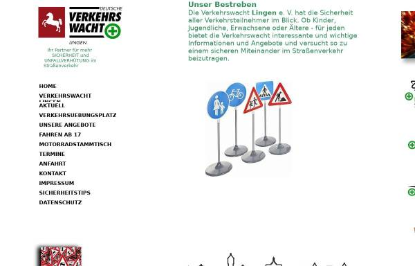 Vorschau von www.verkehrswacht-lingen.de, Verkehrswacht Lingen e. V.