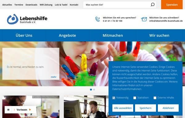 Vorschau von www.lebenshilfe-buxtehude.de, Lebenshilfe Buxtehude für Menschen mit Behinderungen e.V.