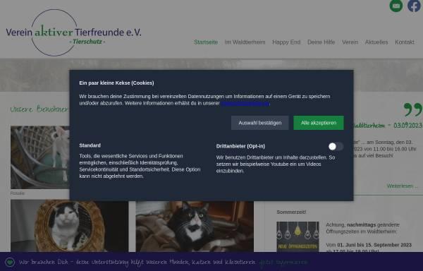 Vorschau von www.tierfreunde-celle.de, Verein aktiver Tierfreunde e. V.