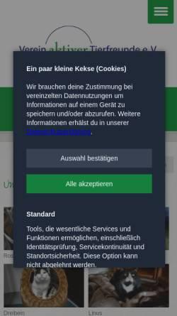 Vorschau der mobilen Webseite www.tierfreunde-celle.de, Verein aktiver Tierfreunde e. V.