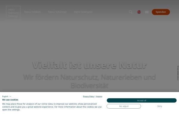 Vorschau von www.sielmann-stiftung.de, Heinz Sielmann Stiftung