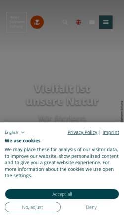 Vorschau der mobilen Webseite www.sielmann-stiftung.de, Heinz Sielmann Stiftung