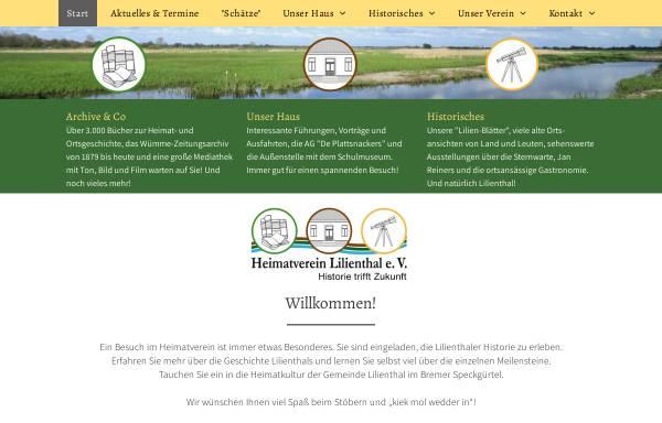 Vorschau von www.heimatverein-lilienthal.de, Heimatverein Lilienthal e.V.
