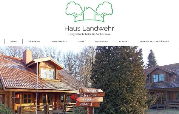 Vorschau von www.landwehr-ev.de, Landwehr e.V. - Wohnheim für suchtkranke Männer und Frauen