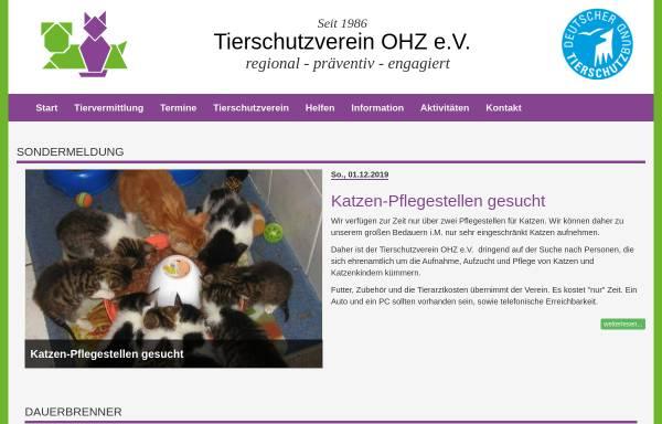 Vorschau von www.tierschutzvereinohz.de, Tierschutzverein OHZ e.V.