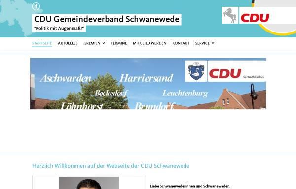 Vorschau von www.cdu-schwanewede.de, CDU Schwanewede
