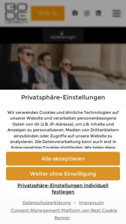 Vorschau der mobilen Webseite www.bode-design.de, BoDe Design Vertriebs-GmbH & Co. KG