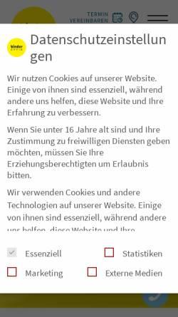 Vorschau der mobilen Webseite www.binder-optik.de, Binder Optik AG
