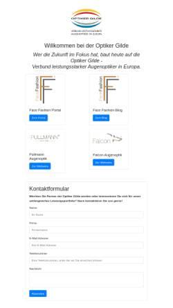 Vorschau der mobilen Webseite www.optiker-gilde.de, Optiker Gilde Handels- und Marketing GmbH