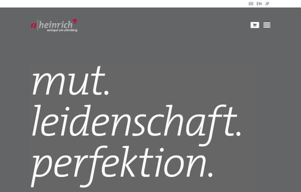 Vorschau von www.weingut-heinrich.com, Weingut Heinrich, Obersulm