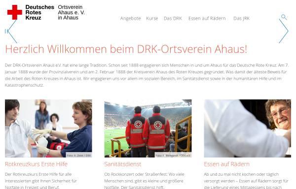 Vorschau von www.drk-ahaus.de, DRK Ortsverein Ahaus e. V.
