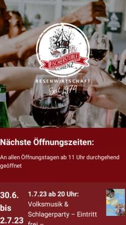 Vorschau der mobilen Webseite www.martina-lorenz.de, Weingut Martina Lorenz, Großbottwar