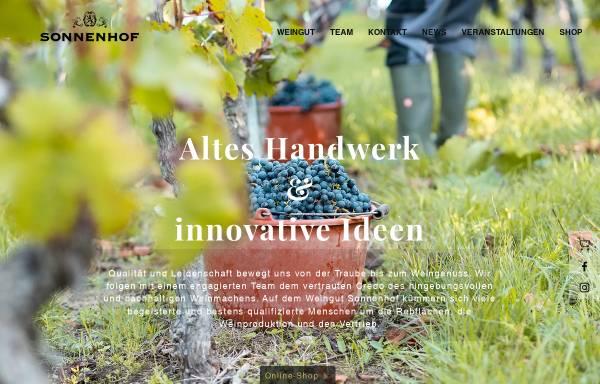 Vorschau von www.weingutsonnenhof.de, Weingut Sonnenhof