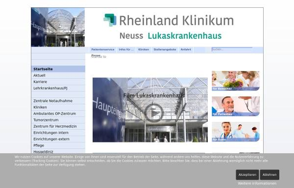 Vorschau von www.lukas-krankenhaus.de, Lukas-Krankenhaus Bünde
