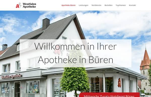 Vorschau von www.westfalen-apotheke-bueren.de, Westfalen Apotheke Büren