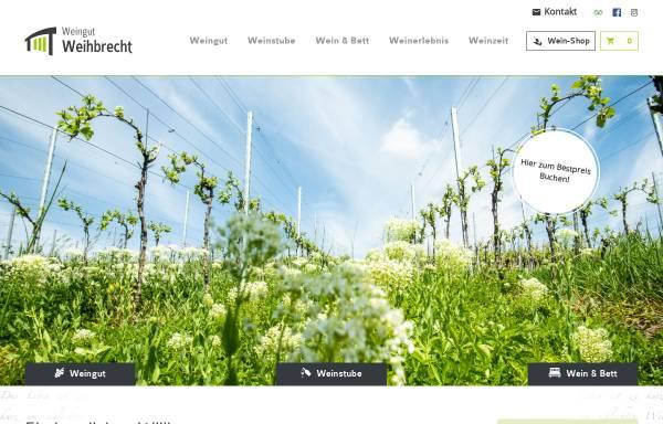 Vorschau von www.weingut-weihbrecht.de, Weingut Weihbrecht
