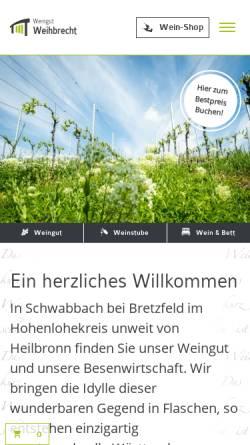 Vorschau der mobilen Webseite www.weingut-weihbrecht.de, Weingut Weihbrecht