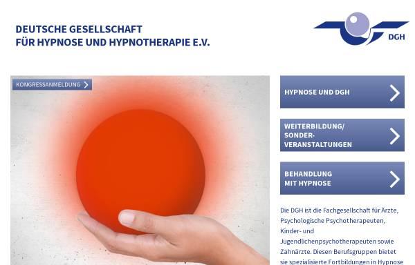 Vorschau von www.hypnose-dgh.de, Deutsche Gesellschaft für Hypnose e.V. (DGH)