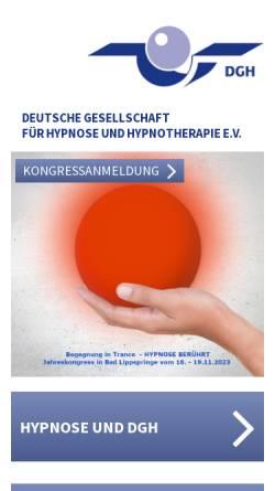 Vorschau der mobilen Webseite www.hypnose-dgh.de, Deutsche Gesellschaft für Hypnose e.V. (DGH)