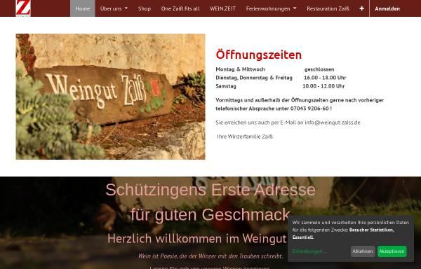 Vorschau von www.weingut-zaiss.de, Weingut Zaiss