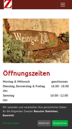 Vorschau der mobilen Webseite www.weingut-zaiss.de, Weingut Zaiss