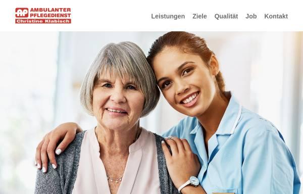 Vorschau von www.klabisch.de, Ambulanter Pflegedienst Christine Klabisch