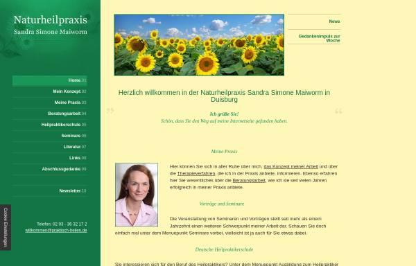 Vorschau von www.praktisch-heilen.de, Naturheilpraxis Sandra Simone Maiworm
