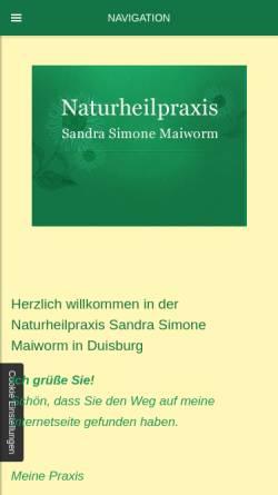 Vorschau der mobilen Webseite www.praktisch-heilen.de, Naturheilpraxis Sandra Simone Maiworm