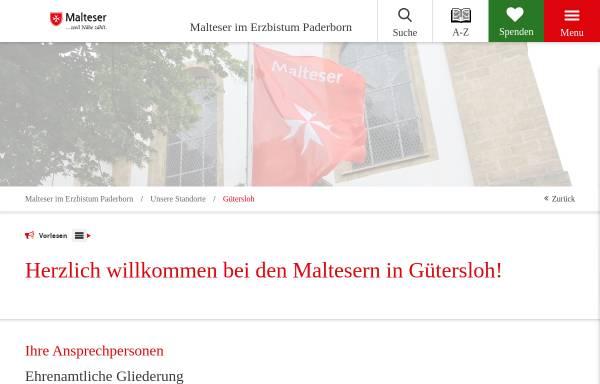 Vorschau von www.malteser-guetersloh.de, Malterser Hilfsdienst