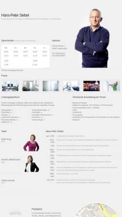 Vorschau der mobilen Webseite siebel-luedenscheid.de, Urologe Hans-Peter Siebel