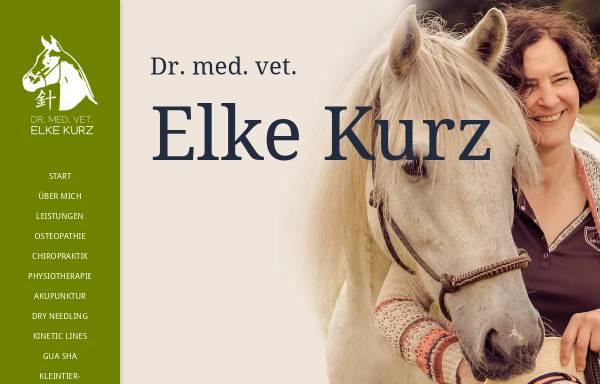 Vorschau von www.elke-kurz.de, Tierarztpraxis Dr. med. vet. Elke Kurz