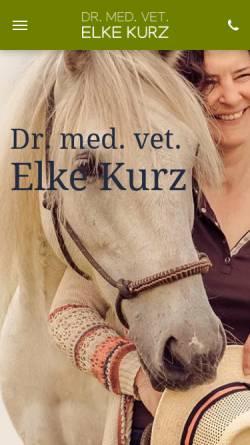 Vorschau der mobilen Webseite www.elke-kurz.de, Tierarztpraxis Dr. med. vet. Elke Kurz